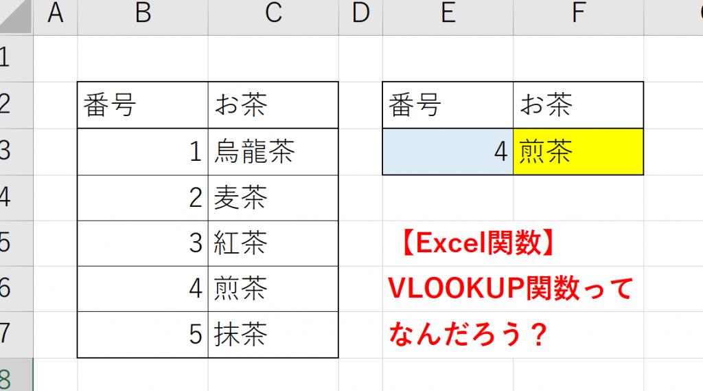 【Excel関数】VLOOKUP関数って何だろう?