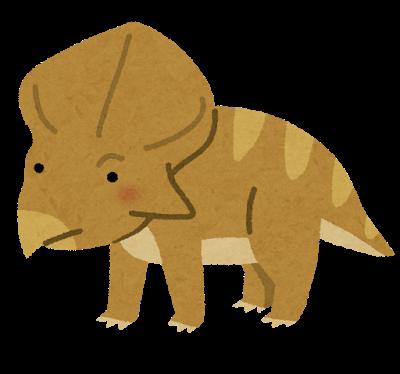 プロトケラトプス(恐竜)のイラスト